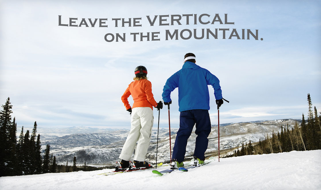 Leave the vertical on the mountain